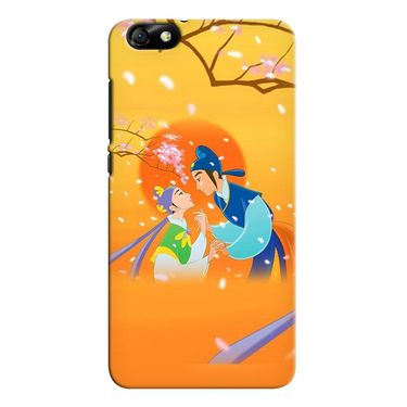 Snooky 37318 Digital Print Hard Back Case Cover For huawei honor 4x - Orange