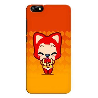 Snooky 37361 Digital Print Hard Back Case Cover For huawei honor 4x - Orange