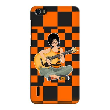 Snooky 37427 Digital Print Hard Back Case Cover For huawei honor 6 - Black