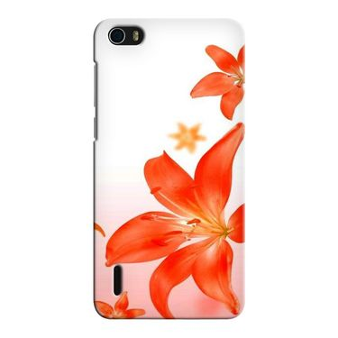 Snooky 37464 Digital Print Hard Back Case Cover For huawei honor 6 - White