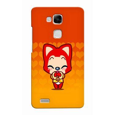 Snooky 37511 Digital Print Hard Back Case Cover For huawei Ascend Mate 7 - Orange