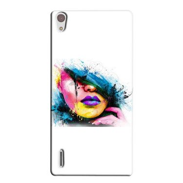 Snooky 38353 Digital Print Hard Back Case Cover For Huawei Ascend P7 - White