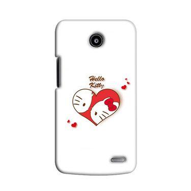 Snooky 38550 Digital Print Hard Back Case Cover For Lenovo A820 - White
