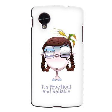 Snooky 35976 Digital Print Hard Back Case Cover For LG Google Nexus 5 - White