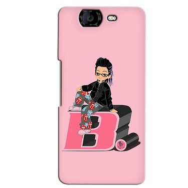 Snooky 35395 Digital Print Hard Back Case Cover For Micromax Canvas Knight A350 - Pink