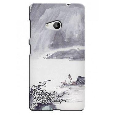 Snooky 38015 Digital Print Hard Back Case Cover For Microsoft Lumia 535 - Grey