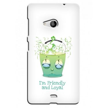 Snooky 38047 Digital Print Hard Back Case Cover For Microsoft Lumia 535 - White