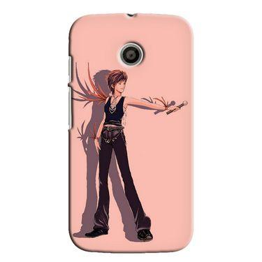 Snooky 35802 Digital Print Hard Back Case Cover For Motorola Moto E - Mehroon