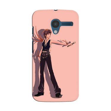 Snooky 35852 Digital Print Hard Back Case Cover For Motorola Moto X - Mehroon