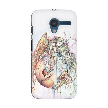 Snooky 35886 Digital Print Hard Back Case Cover For Motorola Moto X - Multicolour