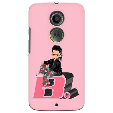 Snooky 35906 Digital Print Hard Back Case Cover For Motorola Moto X2 - Pink
