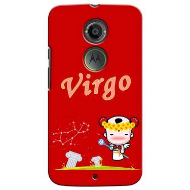 Snooky 35918 Digital Print Hard Back Case Cover For Motorola Moto X2 - Red