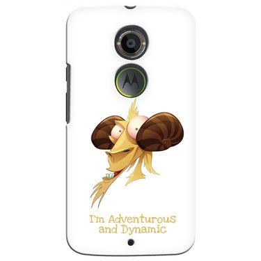 Snooky 35928 Digital Print Hard Back Case Cover For Motorola Moto X2 - White