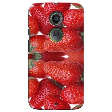 Snooky 35939 Digital Print Hard Back Case Cover For Motorola Moto X2 - Red