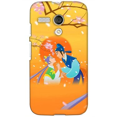 Snooky 38568 Digital Print Hard Back Case Cover For Motorola Moto G - Orange