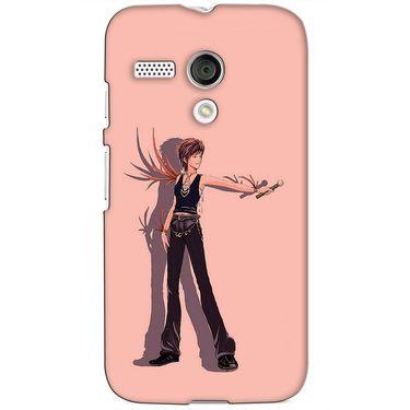 Snooky 38572 Digital Print Hard Back Case Cover For Motorola Moto G - Mehroon