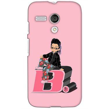 Snooky 38576 Digital Print Hard Back Case Cover For Motorola Moto G - Pink