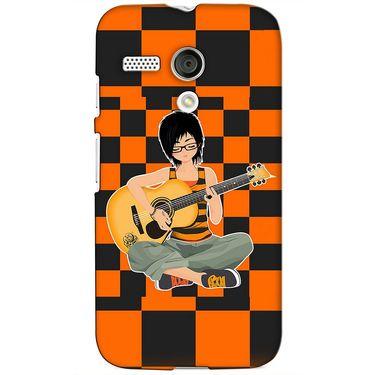 Snooky 38577 Digital Print Hard Back Case Cover For Motorola Moto G - Black