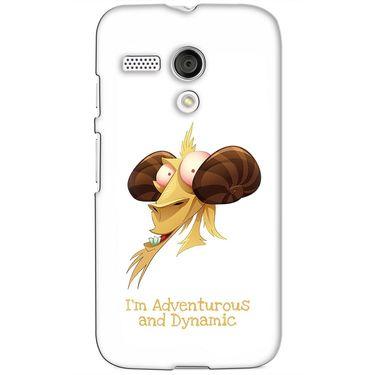 Snooky 38598 Digital Print Hard Back Case Cover For Motorola Moto G - White