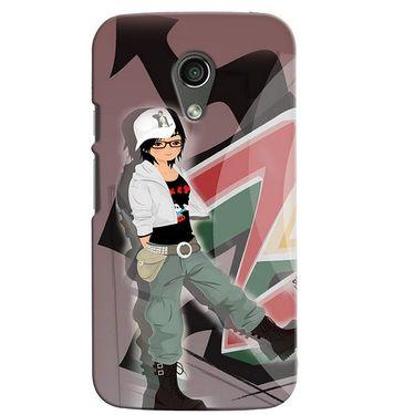 Snooky 38628 Digital Print Hard Back Case Cover For Motorola Moto G 2nd Gen - Brown