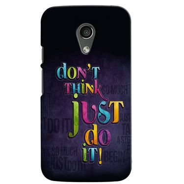 Snooky 38641 Digital Print Hard Back Case Cover For Motorola Moto G 2nd Gen - Black