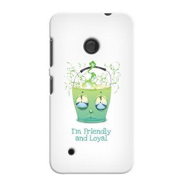 Snooky 37997 Digital Print Hard Back Case Cover For Nokia Lumia 530 - White