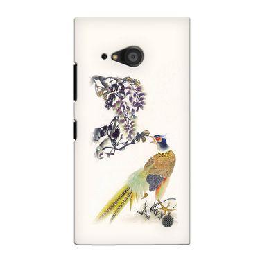 Snooky 38066 Digital Print Hard Back Case Cover For Nokia Lumia 735 - Cream