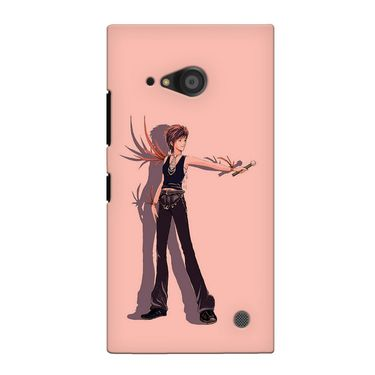 Snooky 38072 Digital Print Hard Back Case Cover For Nokia Lumia 735 - Mehroon