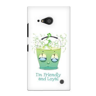 Snooky 38097 Digital Print Hard Back Case Cover For Nokia Lumia 735 - White