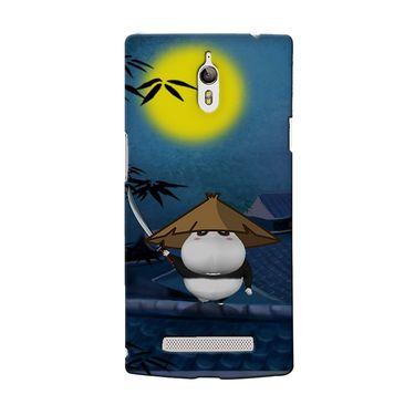 Snooky 36710 Digital Print Hard Back Case Cover For Oppo Find 7 - Blue