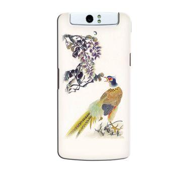 Snooky 36716 Digital Print Hard Back Case Cover For Oppo N1 - Cream