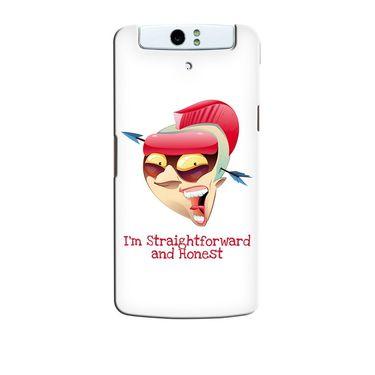 Snooky 36744 Digital Print Hard Back Case Cover For Oppo N1 - White