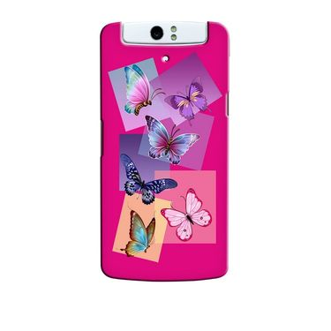 Snooky 36754 Digital Print Hard Back Case Cover For Oppo N1 - Pink