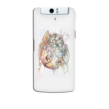 Snooky 36756 Digital Print Hard Back Case Cover For Oppo N1 - Multicolour