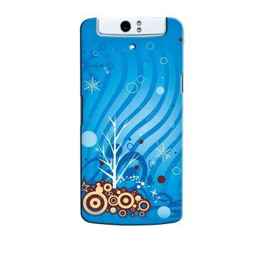 Snooky 36762 Digital Print Hard Back Case Cover For Oppo N1 - Blue