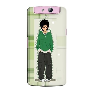 Snooky 36775 Digital Print Hard Back Case Cover For Oppo N1 Mini N5111 - Green