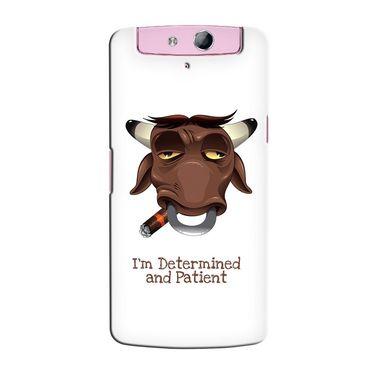 Snooky 36795 Digital Print Hard Back Case Cover For Oppo N1 Mini N5111 - White