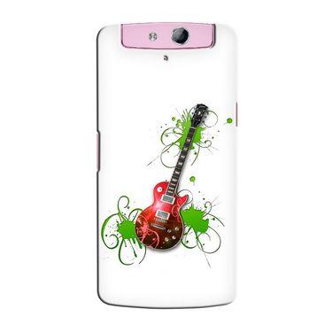 Snooky 36801 Digital Print Hard Back Case Cover For Oppo N1 Mini N5111 - White
