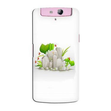 Snooky 36805 Digital Print Hard Back Case Cover For Oppo N1 Mini N5111 - White