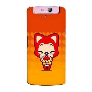 Snooky 36811 Digital Print Hard Back Case Cover For Oppo N1 Mini N5111 - Orange