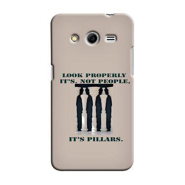 Snooky 35468 Digital Print Hard Back Case Cover For Samsung Galaxy Core 2 - Cream