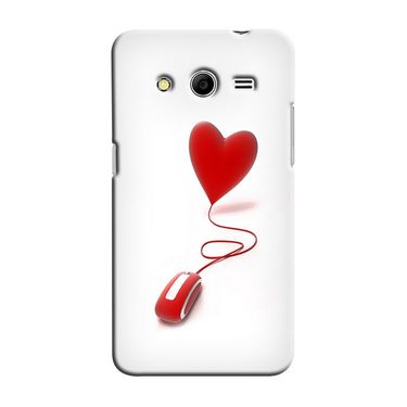 Snooky 35471 Digital Print Hard Back Case Cover For Samsung Galaxy Core 2 - White