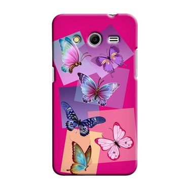 Snooky 35473 Digital Print Hard Back Case Cover For Samsung Galaxy Core 2 - Pink