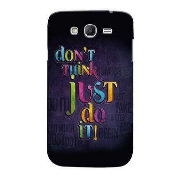 Snooky 35510 Digital Print Hard Back Case Cover For Samsung Galaxy Grand 2 - Black