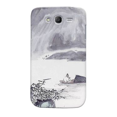 Snooky 35534 Digital Print Hard Back Case Cover For Samsung Galaxy Grand Duos I9082 - Grey