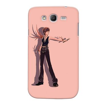 Snooky 35541 Digital Print Hard Back Case Cover For Samsung Galaxy Grand Duos I9082 - Mehroon