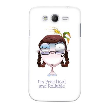 Snooky 35565 Digital Print Hard Back Case Cover For Samsung Galaxy Grand Duos I9082 - White