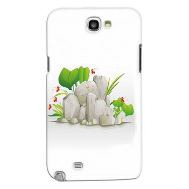 Snooky 35624 Digital Print Hard Back Case Cover For Samsung Galaxy Note 2 N7100 - White