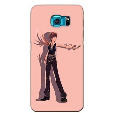 Snooky 36172 Digital Print Hard Back Case Cover For Samsung Galaxy S6 - Mehroon
