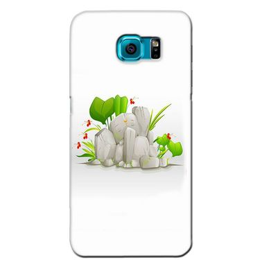Snooky 36205 Digital Print Hard Back Case Cover For Samsung Galaxy S6 - White